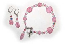 handmade jewelry pink cotton candy set