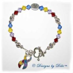 Designs by Debi Handmade Jewelry Awareness Bracelet for autism awareness and asperger's syndrome awareness and aspergers syndrome awareness