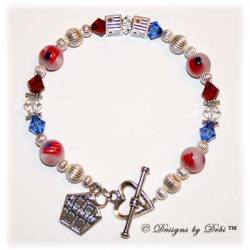 Designs by Debi Handmade Jewelry Remember 9/11 Memorial Bracelet™ Non-Personalized Style