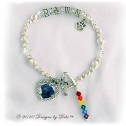 Designs by Debi Handmade Jewelry Rainbow Bridge Pet Memorial Bracelet™ Style #2