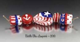 Nautical Whimsy Beads made by Kimberly Nicole Rogalski of Bastille Bleu Lampwork