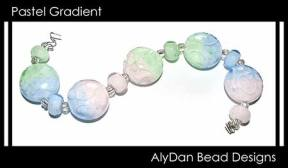 Pastel Gradient beads made by Cristy Howard of AlyDan Beads