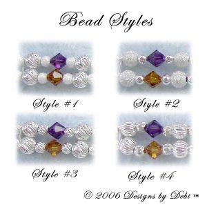 sterling silver bead styles for the Rainbow Bridge Pet Memorial Bracelet