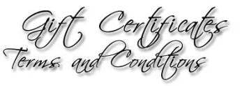 Designs by Debi Handmade Jewelry Gift Certificates Terms and Conditions