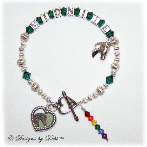sample photo of the new Rainbow Bridge Pet Memorial Bracelet Style #2 for Horses