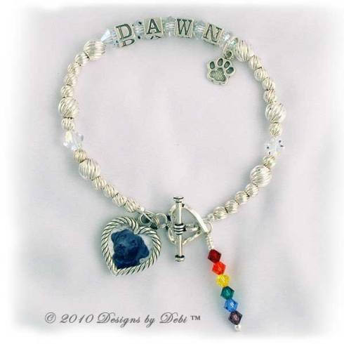 sample photo of the Rainbow Bridge Pet Memorial Bracelet Style #2