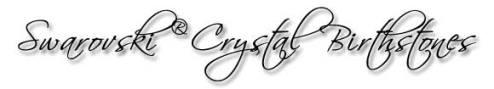 Swarovski Crystal Birthstones