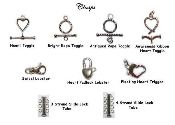 Designs by Debi Persoanlized Keepsake Bracelets Clasp Choices