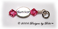 Designs by Debi Handmade Jewelry Survivor charm or dangle for Awareness Bracelets