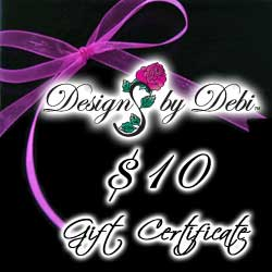 Designs by Debi Handmade Jewelry Gift Certificate purchase button $10