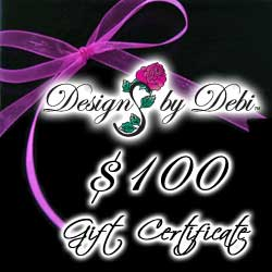 Designs by Debi Handmade Jewelry Gift Certificate purchase button $100