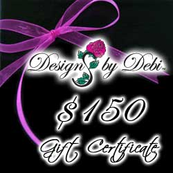 Designs by Debi Handmade Jewelry Gift Certificate purchase button $150
