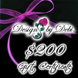 Designs by Debi Handmade Jewelry Gift Certificate purchase button $200