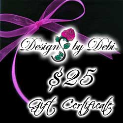 Designs by Debi Handmade Jewelry Gift Certificate purchase button $25