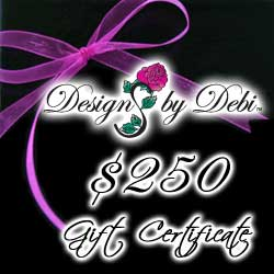 Designs by Debi Handmade Jewelry Gift Certificate purchase button $250