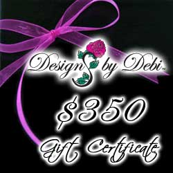 Designs by Debi Handmade Jewelry Gift Certificate purchase button $350