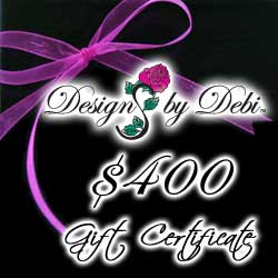 Designs by Debi Handmade Jewelry Gift Certificate purchase button $400