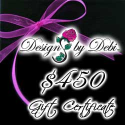 Designs by Debi Handmade Jewelry Gift Certificate purchase button $450