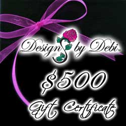 Designs by Debi Handmade Jewelry Gift Certificate purchase button $500