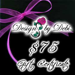 Designs by Debi Handmade Jewelry Gift Certificate purchase button $75