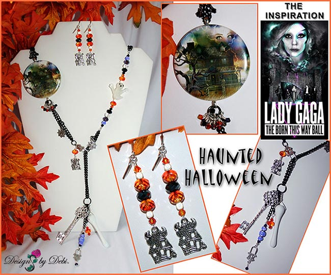 Designs by Debi Handmade Jewelry for Charity Set October 2012 to benefit Lady Gaga's Born This Way Foundation Copyright Designs by Debi