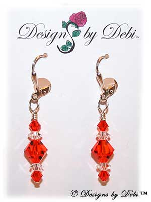 Designs by Debi Handmade Jewelry Signature Collection Earrings Hyacinth and Crystal Earrings with sterling silver plated leverbacks