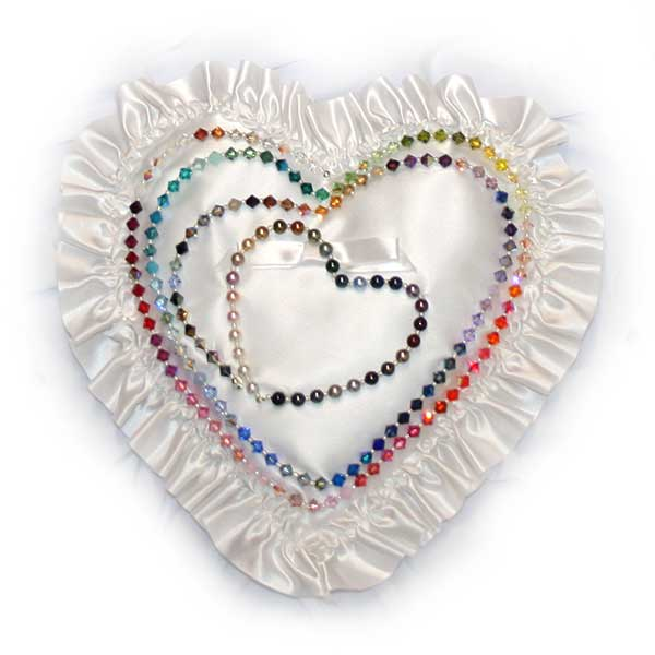 Designs by Debi™ Swarovski Crystals and Pearls on Pillow