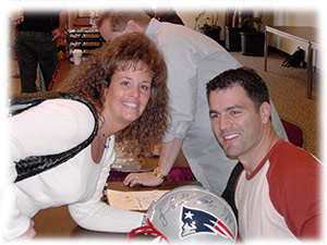 Debi and Adam Vinatieri of the New England Patriots