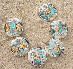Ocean Within lentil beads made by Catherine Steele of Art With Heart