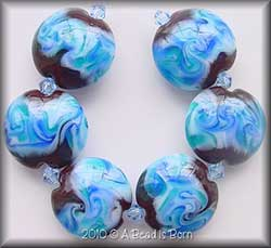 Chocolate Sea lentil beads made by Melissa Willette of A Bead Is Born