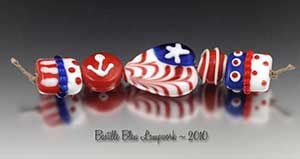 Nautical Whimsy Beads made by Kimberly Nicole Rogalski of Bastille Bleu Lampwork