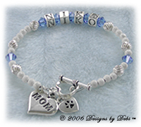 Designs by Debi Handmade Jewelry Personalized Keepsake Bracelets Mothers Bracelets Name Bracelets