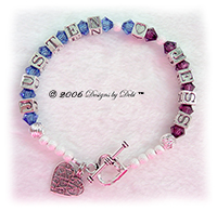 Designs by Debi Handmade Jewelry Personalized Keepsake Bracelet Couples