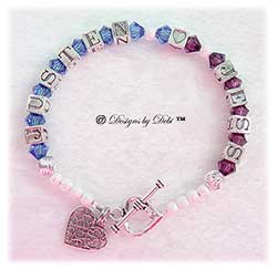 Designs by Debi Handmade Jewelry Personalized Couples Keepsake Bracelet
