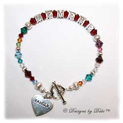 Designs by Debi Handmade Jewelry Personalized Keepsake Bracelet Generations