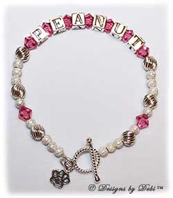 Designs by Debi Handmade Jewelry Personalized Keepsake Bracelet Pet Name