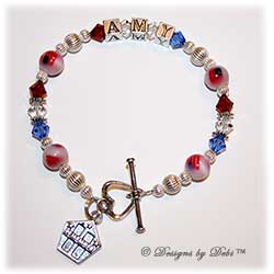 Designs by Debi Handmade Jewelry Remember 9/11 Memorial Bracelet™ Persoanlized Style