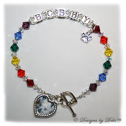Designs by Debi Handmade Jewelry Rainbow Bridge Pet Memorial Bracelet™ Style #1 Bobby