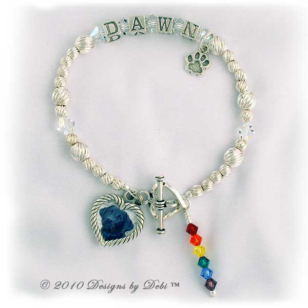 sample photo of the Rainbow Bridge Pet Memorial Bracelet Style #2