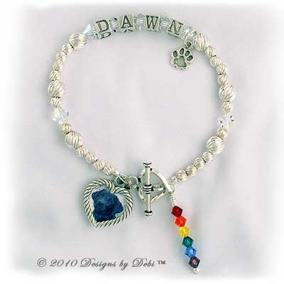 Designs by Debi Rainbow Bridge Pet Memorial Bracelet Srtyle #2