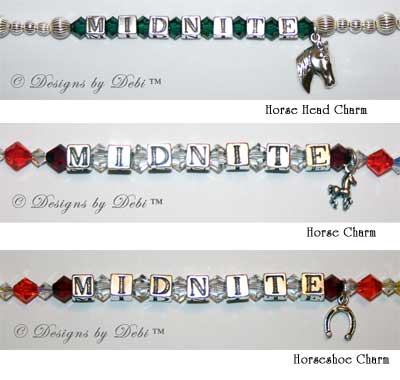 Charm choices for the new Rainbow Bridge Pet Memorial Bracelets™ for Horses