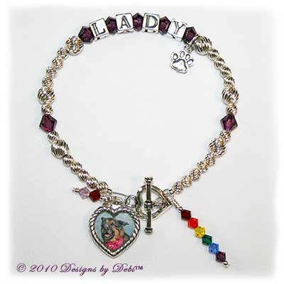 Designs by Debi Handmade Jewelry Rainbow Bridge Pet Memorial Bracelet™ Lady