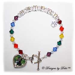 Designs by Debi Handmade Jewelry Rainbow Bridge Pet Memorial Bracelet™ Style #1 Bailey