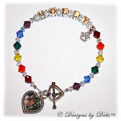 Designs by Debi Handmade Jewelry Rainbow Bridge Pet Memorial Bracelet™ Style #1 Molly