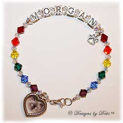 Designs by Debi Handmade Jewelry Rainbow Bridge Pet Memorial Bracelet™ Style #1 Morgan