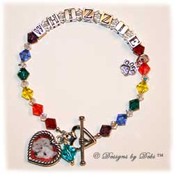 Designs by Debi Handmade Jewelry Rainbow Bridge Pet Memorial Bracelet™ Style #1 Whizzie