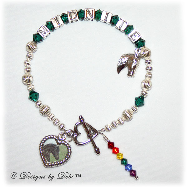 sample photo of the new Rainbow Bridge Pet Memorial Bracelet Style #2 for Horses
