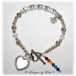 Designs by Debi Handmade Jewelry Rainbow Bridge Pet Memorial Bracelet™ Style #2 Lucky