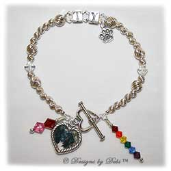 Designs by Debi Handmade Jewelry Rainbow Bridge Pet Memorial Bracelet™ Style #2 Ty