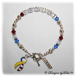 Designs by Debi Handmade Jewelry In Memory Support Your Soldier Bracelet Style #2
